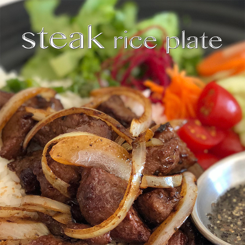 Grilled Steak Rice Plate